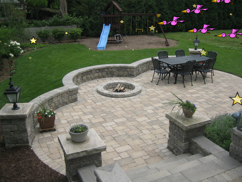 Fire Pits - Brick Patio & Pavers | 3D Brick Paving3D Brick ... on Paver Patio With Fire Pit Ideas id=22743
